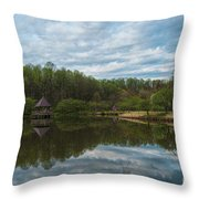 A View Of Meadowlark Gardens Early On A Spring Morning Cm1 Throw Pillow