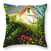 A View Of Monets House In Giverny France Throw Pillow