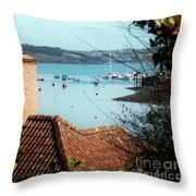 A View Of Mylor Harbour Throw Pillow