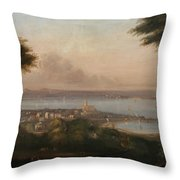 A View Of Penzance Throw Pillow