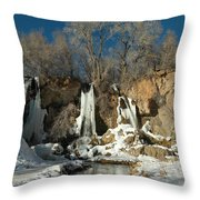 A View Of Rifle Falls Throw Pillow