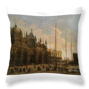 A View Of St. Mark's Basilica Throw Pillow