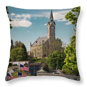 A View Of St Mary's Throw Pillow