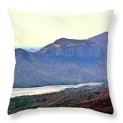 A View Of Table Rock South Carolina Throw Pillow