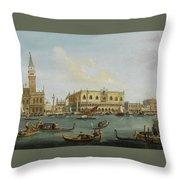 A View Of The Bacino Di San Marco Throw Pillow