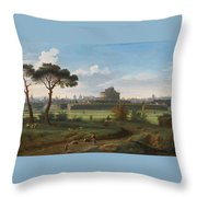 A View Of The Castel Sant'angelo Throw Pillow