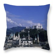 A View Of The City Of Salzburg From An Throw Pillow