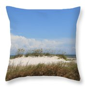 A View Of The Dunes Throw Pillow