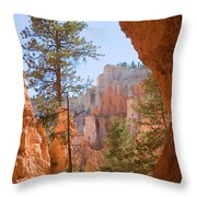 A View Of The Hoodoos And Erosion Throw Pillow