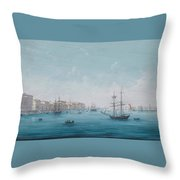 A View Of The Neva River Throw Pillow