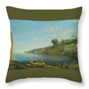 A View Of Villa Martinelli At Posillipo Throw Pillow