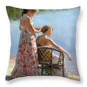 A View On The Pond Throw Pillow