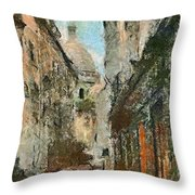 A View On The Sacre Coeur Throw Pillow