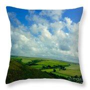 A View Over Exmoor Throw Pillow