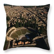 A View Over Pompeii Toward Mount Throw Pillow