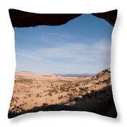 A View Through A Window Into The Grand Throw Pillow