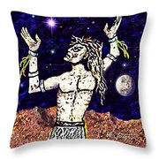 A  Viking Warrior  Throw Pillow