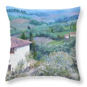 A Villa In Tuscany Throw Pillow