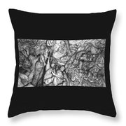 A Village Throw Pillow