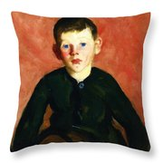 A Village Boy Throw Pillow