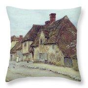 A Village Street Kent Throw Pillow by Helen Allingham