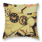 A Vintage Embellishment Throw Pillow