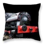 A Vintage Steam Train Throw Pillow