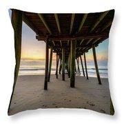 A Virginia Beach Morning Throw Pillow