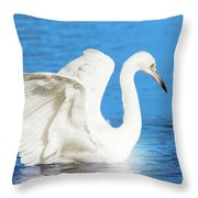A Vision In White Throw Pillow