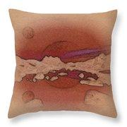 A Vision Of An Alien Landscape Throw Pillow