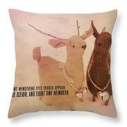 A Visit From Saint Nicholas Quote Throw Pillow