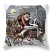 A Visit From St Nicholas Throw Pillow