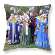 A Visit With Royalty Throw Pillow
