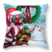 A Visit With Santa Throw Pillow