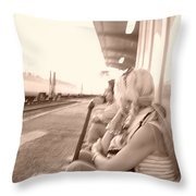 A Waiting Game Throw Pillow