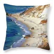 A Walk Along Aquinnah Beach Throw Pillow