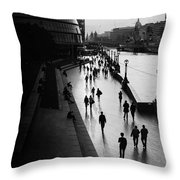 A Walk Along The Thames Throw Pillow