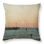 A Walk At Sunset Throw Pillow