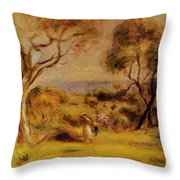 A Walk By The Sea 1915 Throw Pillow