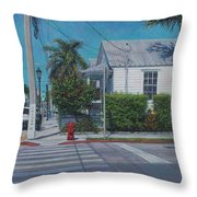 A Walk In Key West Throw Pillow