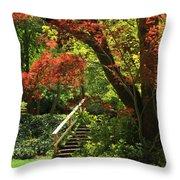 A Walk In Lithia Park Throw Pillow