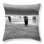 A Walk In The Mist Throw Pillow