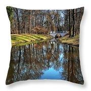 A Walk In The Park Lazienki Warsaw Throw Pillow