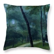 A Walk In The Woods Madame Lecoeur And Her Children 1870 Throw Pillow