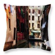A Walk In Venice Throw Pillow