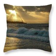 A Walk On The Kenyan Coast Throw Pillow