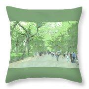 A Walk Through Central Park Throw Pillow