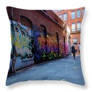 A Walk Through Color Throw Pillow