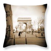 A Walk Through Paris 3 Throw Pillow by Mike McGlothlen