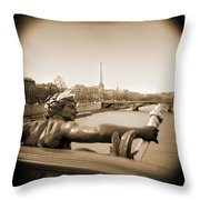 A Walk Through Paris 7 Throw Pillow by Mike McGlothlen